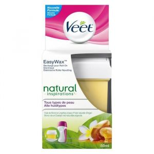 Veet EasyWax - Recharge roll-on électrique bras et jambes Natural Inspirations