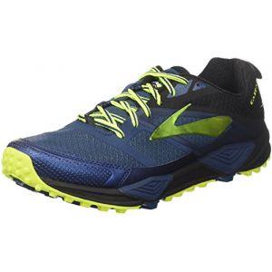 Brooks Cascadia 12, Chaussures de Trail Homme, Multicolore (Blue/Black/Nightlife 1d419), 44.5 EU