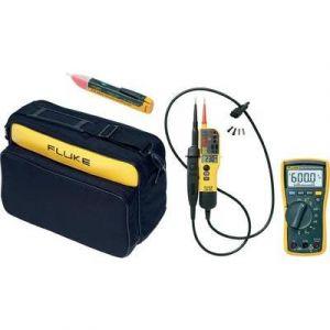 Fluke Combi kit multimètre 115 + testeur VAT T130 + détecteur de tension 1AC-II + sacoche C 345