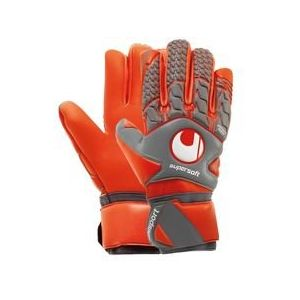 Uhlsport Gants de Gardien Rouge Supersoft HN - Gris/Rouge fluo