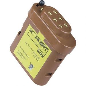 Kahlert Licht Boîte à piles avec douille de connexion
