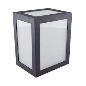 V-TAC VT-822 applique murale LED 12W wall light cube corps noir blanc chaud 3000K IP65 - sku 8340