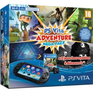 Sony PS Vita 2000 + Voucher Adventure Games Mega Pack + Carte mémoire 8 Go