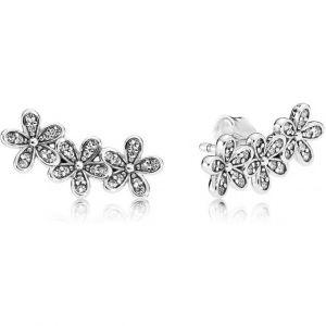 Pandora Boucles d'oreilles 290744CZ - Boucles d'oreilles Marguerites Éblouissantes