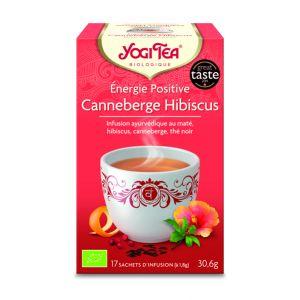 Yogi Tea Thé noir Énergie positive à l'Hibiscus et Canneberges