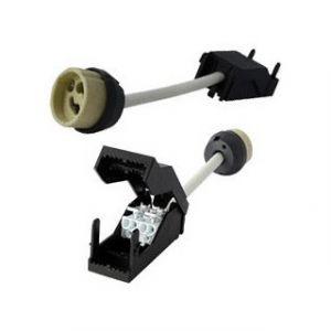 Vision-El Douille culot GU10 en céramique avec bloc de connexion automatique