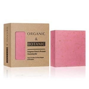 Organic & Botanic Savon à la fleur de Rose bulgare et Rhubarbe