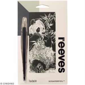 Reeves Carte à gratter Mini Argentée Panda - 11 x 18 cm