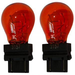 Aerzetix : 2x Ampoule 12v 3157 W2.5x16q P27/7w Orange Ambré - Neuf