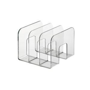 Durable 1701395400 Trend Porte-catalogues Trieur Documents Vertical 3 Compartiments Polystyrène Transparent