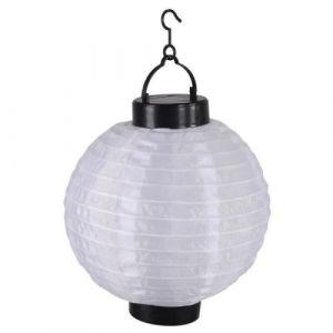 Lanterne chinoise solaire en plastique Ø20cm - Blanc - Lanterne chinoise solaire en plastique - Batterie rechargeable - Diamètre : 20cm - Coloris : blanc.