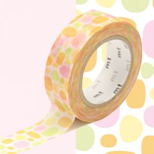 Masking tape mt Ruban décoratif adhésif - Motif pavés ronds orange Pool