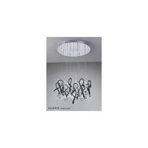 Diyas Suspension Class 20 ampoules en métal chromé, cristal et verre