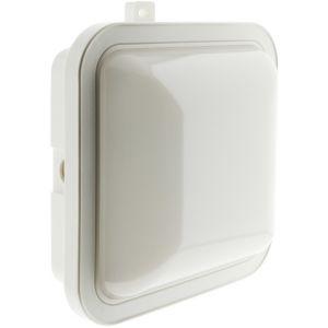 Elexity Hublot carré LED 5.5W 450 lm - IP44 - Blanc