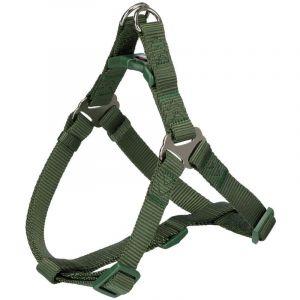 Trixie Premium harnais one touch - L: 65-80 cm/25 mm, vert forêt