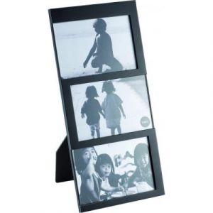 Balvi Cadre Dijon Coloris: Noir Capacité: 3 Photos de 10x15 cm Cadre Photo à Poser Plastique 34x16 cm