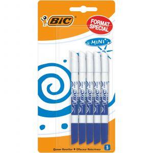 Bic Lot de 5 mini effaceurs réécriveurs -- Bleu - Format spécial