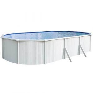 Abak Kit piscine métal hors sol SAPHIR C8725-1 6,10 x 3,65 m : Aspect Bois