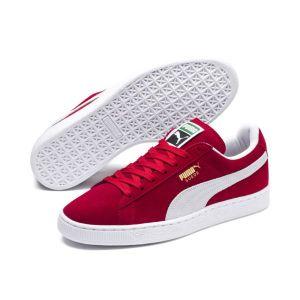 Puma Suede Classic+ - Baskets mode - Mixte Adulte - Rouge (Red/White 05) - 40 EU