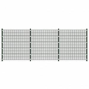 VidaXL Set de panneaux de clôture avec poteaux 6 m et 2 m de hauteur