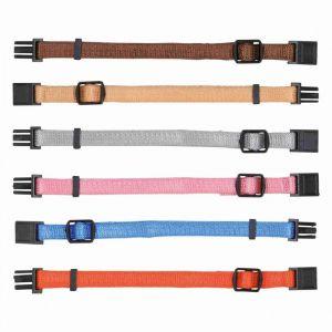 Trixie Colliers chiot - S-M: 17-25 cm/10 mm, 6 pcs, brun, beige, gris, rose, bleu, orange