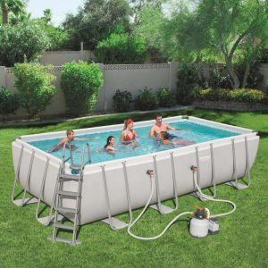 Bestway Ensemble de piscine rectangulaire Power Steel 56466