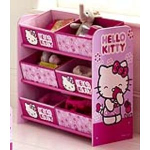 Room Studio 864797 - Rangement 6 corbeilles Hello Kitty