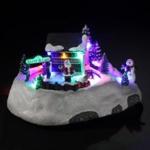 Village de Noël lumineux : Course de luge