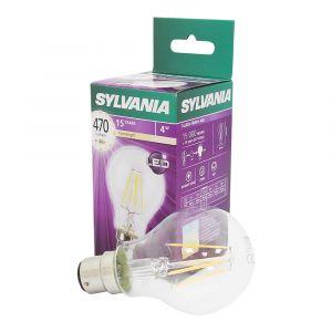 Sylvania Ampoule LED RETRO A60 B22 40W - Ampoule LED 4W - Marque - Forme standard A60 - Look rétro : finition claire - Culot B22 - Puissance 4W, équivalence 40W - 470 lumens - 15000 heures - Blanc confort - 2700K