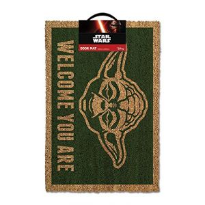 Pyramid Posters Star Wars Yoda Door Mat Paillasson, PVC, Multicolore, 80 x 150 cm