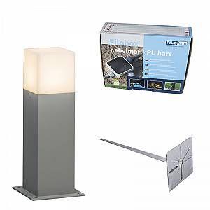 Qazqa Lampe extérieure P30 grise avec piquet de terre et manchon de câble - Denmark