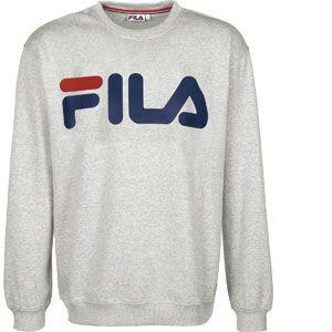 FILA Classic Logo sweat Hommes gris chiné T. M