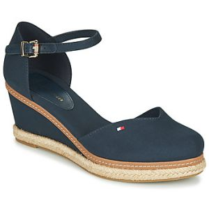 Tommy Hilfiger Sandales BASIC CLOSED TOE MID WEDGE - Couleur 36,37,38,39,40,41 - Taille Bleu