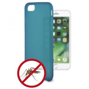 KSIX Coque de protection flexible anti-bactéries pour Iphone 7 Bleu - Coque de protection amusante illuminant - Antidérapant: améliore la prise de votre appareil - Protection contre les rayures et anti-poussière - Accès aux connecteurs et caméras de votre