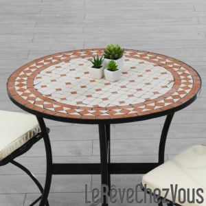 table de jardin mosaique comparer 95 offres. Black Bedroom Furniture Sets. Home Design Ideas