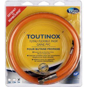 wpro tbe 200 flexible inox pour le gaz butane propane comparer avec. Black Bedroom Furniture Sets. Home Design Ideas
