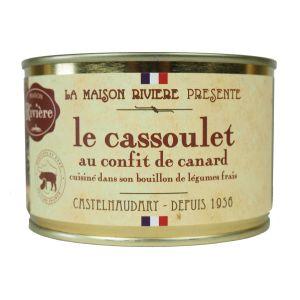 Maison Rivière Plat Cuisiné Cassoulet Confit Canard - La Boite De 420 G