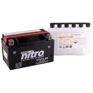Nitro Batterie YTX7A-BS AGM ouvert avec pack acide Type Acide