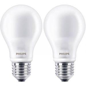 Philips Ampoule LED Standard Culot E27 - Lot de 2 Ampoules - 7W consommés - Équivalence Incandescence 60W