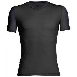 Icebreaker Mens Anatomica SS V T-Shirt Homme, Noir, FR : S (Taille Fabricant : S)