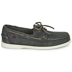 Sebago Chaussures bateau DOCKSIDES PORTLAND CRAZY H Gris - Taille 40,41,42,43,45,46