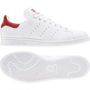 Adidas Baskets -originals Stan Smith - Footwear White / Footwear White / Lush Red - EU 37 1/3