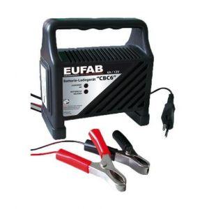 EUFAB Chargeur de batteries compact 6 Amp, pour batteries 12 V