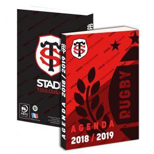 Agenda scolaire journalier carton souple garçon 12x17 cm Stade Toulousain 2018-2019