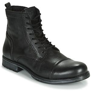 Jack & Jones Boots JFW RUSSEL LEATHER Noir - Taille 40,41,42,43,44,45,46