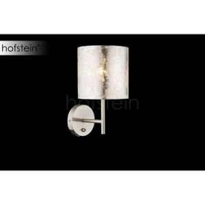 Globo Lighting Applique luminaire mat - - Tissu gris métallisé - Interrupteur - 15 x26 cm - 40W - 230V - Applique luminaire mat - - Tissu gris métallisé - Interrupteur - 15 x26 cm - E14 - 40W - 230V