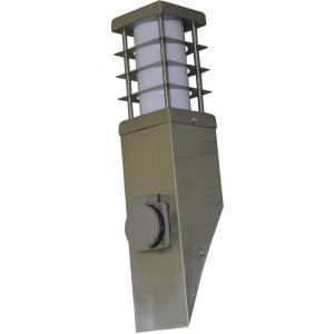 I-Watts APPLIQUE FLAMBEAU 11W E27 INOX OUTDOOR LIGHTING