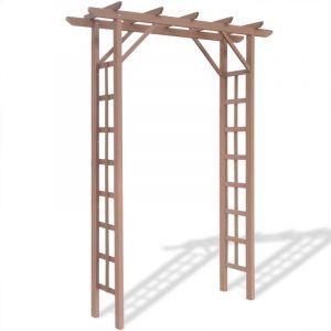 VidaXL Arche à toit plat 150 x 50 x 200 cm bois composite