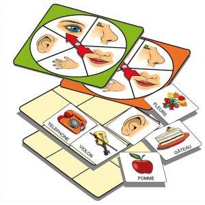 Atelier d'activité sur la connaissance des 5 sens, pour 1 à 5 joueurs de 3 à 7 ans