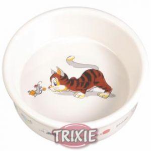 """Trixie Ecuelle en céramique """"Chat & Souris"""" Ø 11 cm"""